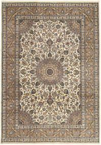 カシャン パティナ 絨毯 242X347 オリエンタル 手織り 薄い灰色/薄茶色 (ウール, ペルシャ/イラン)