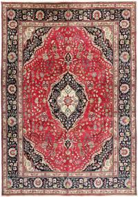 タブリーズ 絨毯 244X345 オリエンタル 手織り 深紅色の/濃い茶色 (ウール, ペルシャ/イラン)