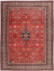 ハマダン シャフバフ パティナ 絨毯 313X413 オリエンタル 手織り 深紅色の/錆色 大きな (ウール, ペルシャ/イラン)
