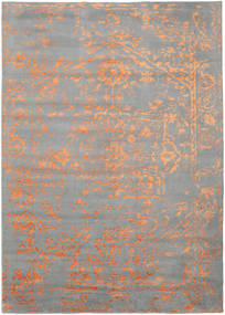Orient Express - グレー/オレンジ 絨毯 240X340 モダン 手織り 薄い灰色 (ウール/バンブーシルク, インド)