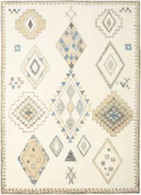 Berber インド - オフホワイト/ベージュ 絨毯 240X340 モダン 手織り ベージュ/ホワイト/クリーム色 (ウール, インド)