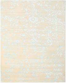 Orient Express - 白/青 絨毯 240X300 モダン 手織り ベージュ/ホワイト/クリーム色 (ウール/バンブーシルク, インド)