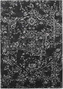 Orient Express - 黒 絨毯 210X290 モダン 手織り 黒/濃いグレー (ウール/バンブーシルク, インド)