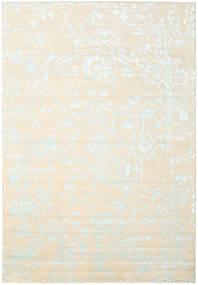 Orient Express - 白/青 絨毯 240X340 モダン 手織り ベージュ/ホワイト/クリーム色 (ウール/バンブーシルク, インド)