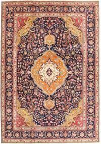 タブリーズ 絨毯 242X343 オリエンタル 手織り 深紅色の/濃い茶色 (ウール, ペルシャ/イラン)