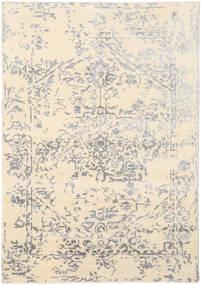 Orient Express - 白/グレー 絨毯 140X200 モダン 手織り ベージュ/薄い灰色 (ウール/バンブーシルク, インド)