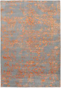 Orient Express - グレー/オレンジ 絨毯 160X230 モダン 手織り 薄い灰色/濃いグレー (ウール/バンブーシルク, インド)
