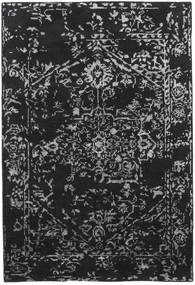 Orient Express - 黒 絨毯 140X200 モダン 手織り 濃いグレー/薄い灰色 (ウール/バンブーシルク, インド)
