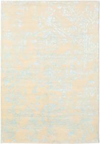 Orient Express - 白/青 絨毯 160X230 モダン 手織り ベージュ/暗めのベージュ色の (ウール/バンブーシルク, インド)