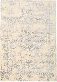 Orient Express - 白/グレー 絨毯 160X230 モダン 手織り ベージュ/薄い灰色 (ウール/バンブーシルク, インド)