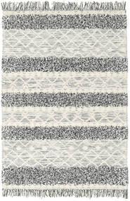 キリム Berber Ibiza - Black And White Mix 絨毯 140X200 モダン 手織り 薄い灰色/暗めのベージュ色の (ウール, インド)