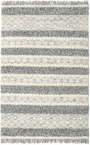 キリム Berber Ibiza - Black And White Mix 絨毯 200X300 モダン 手織り 薄い灰色/濃いグレー/暗めのベージュ色の (ウール, インド)