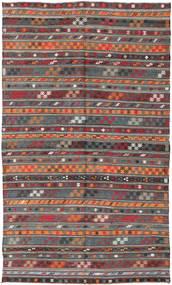 キリム トルコ 絨毯 180X303 オリエンタル 手織り 深紅色の/濃いグレー (ウール, トルコ)