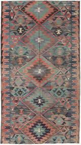 キリム トルコ 絨毯 163X292 オリエンタル 手織り 濃いグレー/薄茶色 (ウール, トルコ)