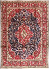タブリーズ 絨毯 248X343 オリエンタル 手織り 深紅色の/ベージュ (ウール, ペルシャ/イラン)