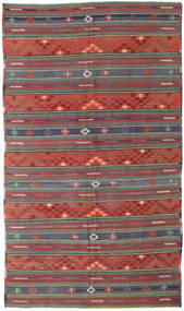 キリム トルコ 絨毯 170X296 オリエンタル 手織り 深紅色の/深緑色の (ウール, トルコ)