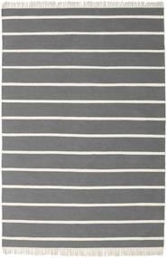 ドリ Stripe - グレー 絨毯 160X230 モダン 手織り 濃い茶色/濃いグレー (ウール, インド)