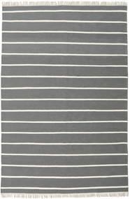 ドリ Stripe - グレー 絨毯 200X300 モダン 手織り 濃いグレー/深緑色の (ウール, インド)