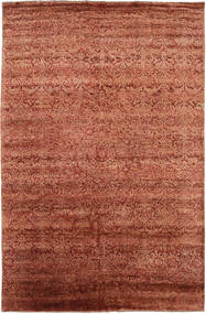 Damask 絨毯 193X300 モダン 手織り 赤/深紅色の ( インド)