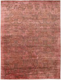 Damask 絨毯 278X367 モダン 手織り 深紅色の/薄茶色 大きな ( インド)