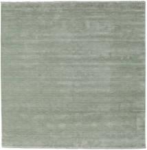 ハンドルーム Fringes - Soft Teal 絨毯 250X250 モダン 正方形 ライトグリーン 大きな (ウール, インド)