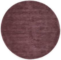 ハンドルーム - ディープワイン 絨毯 Ø 150 モダン ラウンド 濃い紫/濃い茶色 (ウール, インド)