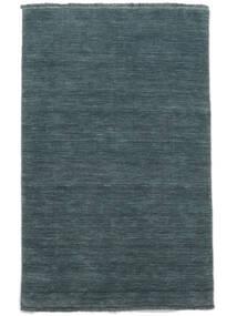 ハンドルーム Fringes - ディープペトロール 絨毯 160X230 モダン 青 (ウール, インド)