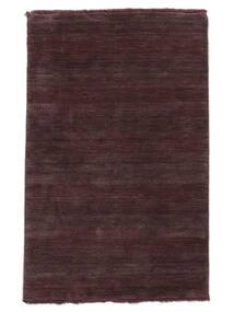 ハンドルーム Fringes - ディープワイン 絨毯 160X230 モダン 濃い紫/濃い茶色 (ウール, インド)