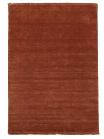 ハンドルーム Fringes - ディープラスト 絨毯 140X200 モダン 錆色/赤/深紅色の (ウール, インド)