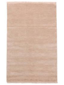 ハンドルーム Fringes - ディープラスト 絨毯 140X200 モダン ライトピンク/ベージュ (ウール, インド)