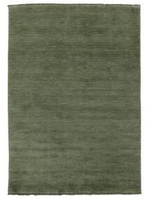 ハンドルーム Fringes - フォレストグリーン 絨毯 140X200 モダン 深緑色の/ターコイズ (ウール, インド)