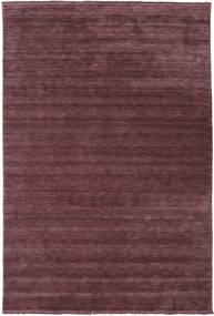 ハンドルーム Fringes - ディープワイン 絨毯 200X300 モダン 濃い紫/濃い茶色 (ウール, インド)