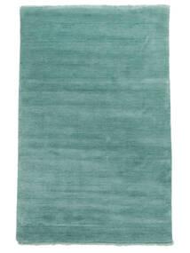 ハンドルーム Fringes - Aqua 絨毯 140X200 モダン ターコイズブルー (ウール, インド)