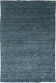 ハンドルーム Fringes - ディープペトロール 絨毯 200X300 モダン 青/紺色の (ウール, インド)