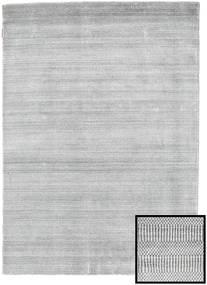 Bamboo Grass - グレー 絨毯 140X200 モダン 薄い灰色/ホワイト/クリーム色 (ウール/バンブーシルク, トルコ)