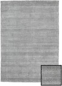Bamboo Grass - Black_ グレー 絨毯 140X200 モダン 薄い灰色/濃いグレー (ウール/バンブーシルク, トルコ)