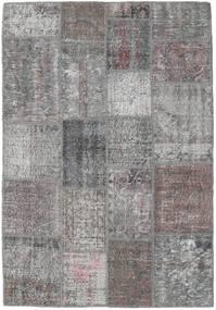 パッチワーク 絨毯 140X202 モダン 手織り 薄い灰色/濃い茶色 (ウール, トルコ)