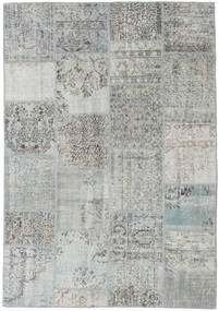 パッチワーク 絨毯 158X230 モダン 手織り 薄い灰色/ターコイズブルー (ウール, トルコ)