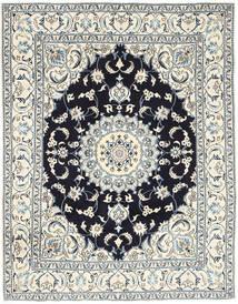 ナイン 絨毯 193X250 オリエンタル 手織り 薄い灰色/ベージュ (ウール, ペルシャ/イラン)
