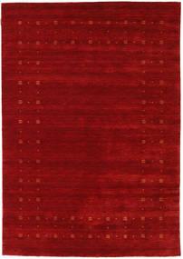 Loribaf ルーム Delta - 赤 絨毯 160X230 モダン 深紅色の/錆色 (ウール, インド)