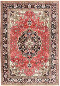 タブリーズ 絨毯 200X287 オリエンタル 手織り 深紅色の/茶 (ウール, ペルシャ/イラン)