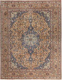 カシャン パティナ 絨毯 292X385 オリエンタル 手織り 濃い茶色/深紅色の 大きな (ウール, ペルシャ/イラン)