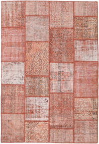 パッチワーク 絨毯 159X232 モダン 手織り ライトピンク/深紅色の (ウール, トルコ)
