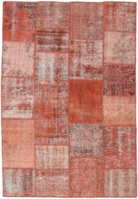 パッチワーク 絨毯 158X231 モダン 手織り 深紅色の/ライトピンク (ウール, トルコ)