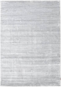 Bamboo シルク ルーム - グレー 絨毯 160X230 モダン ホワイト/クリーム色/薄い灰色 ( インド)
