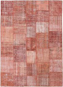 パッチワーク 絨毯 251X352 モダン 手織り 深紅色の/ライトピンク 大きな (ウール, トルコ)