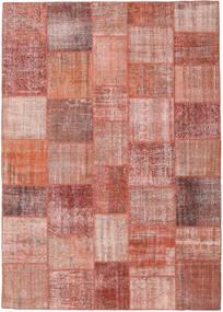 パッチワーク 絨毯 251X353 モダン 手織り 深紅色の/ライトピンク 大きな (ウール, トルコ)