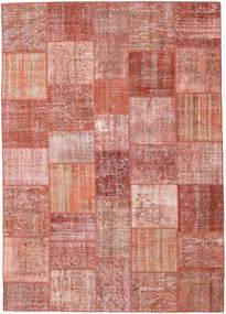 パッチワーク 絨毯 252X354 モダン 手織り ライトピンク/深紅色の 大きな (ウール, トルコ)