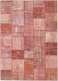 パッチワーク 絨毯 246X348 モダン 手織り 深紅色の/ライトピンク (ウール, トルコ)