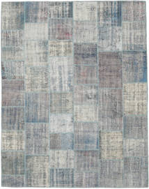 パッチワーク 絨毯 241X305 モダン 手織り 薄い灰色/ターコイズブルー (ウール, トルコ)